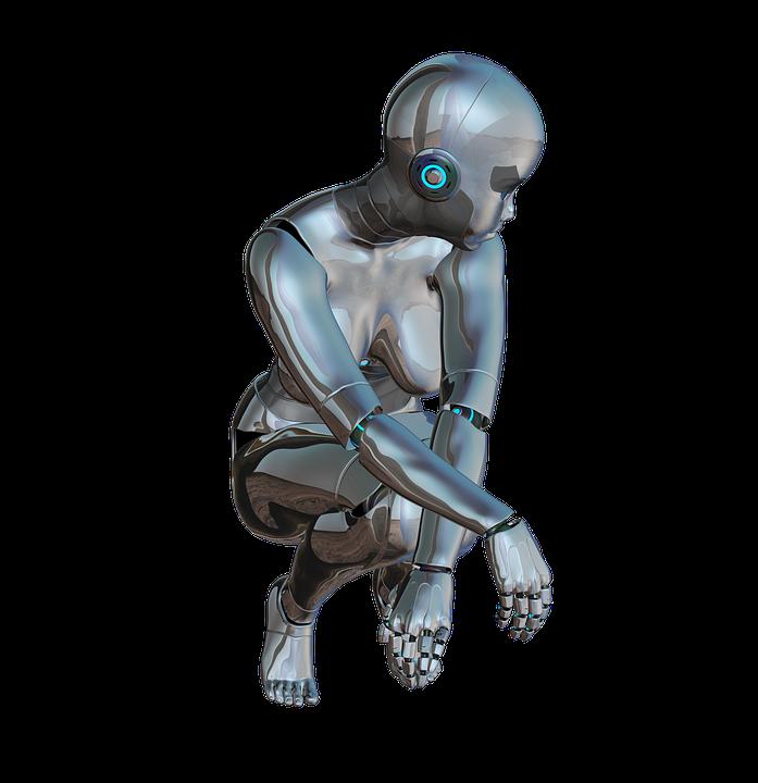 Free illustration: Girl, Woman, Posing, Front, Robot ...