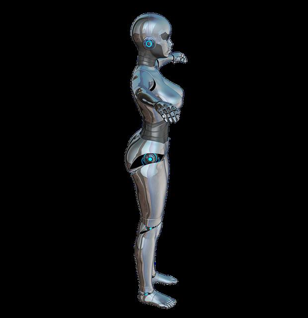 Free Illustration Girl Woman Side Robot Cyborg Free