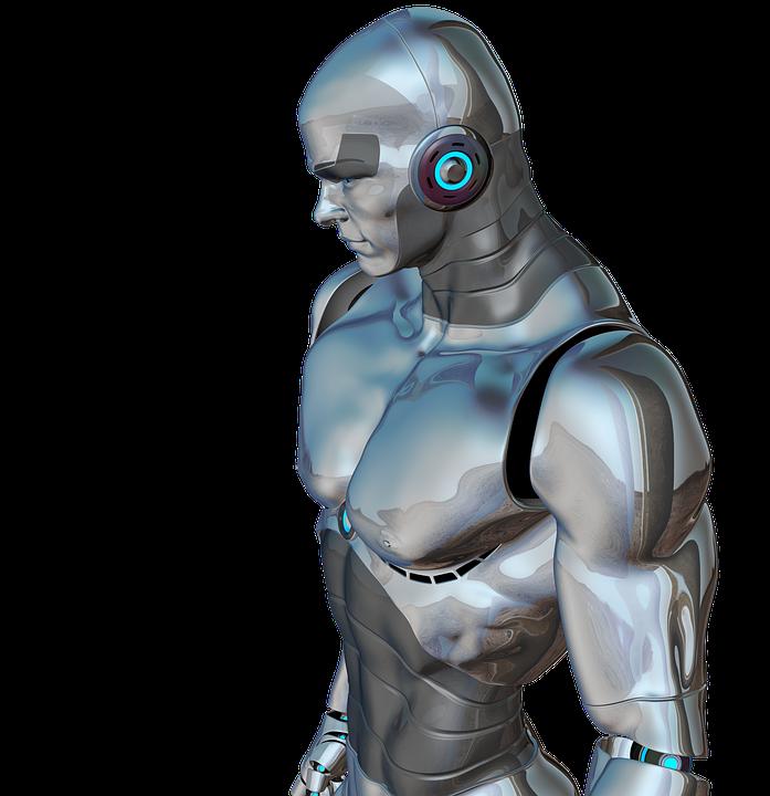 男, 筋肉, ロボット, サイボーグ, 人造人間, ロボット工学, 未来, 人工知能, 未来の, 銀