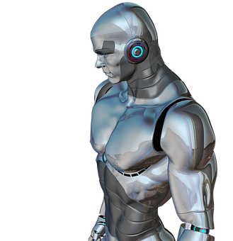Man Muscular Robot Cyborg Android Robotics