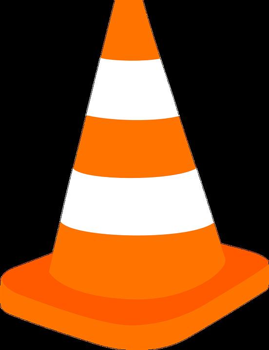 cone proteção coletiva sinalização gráfico vetorial grátis no pixabay