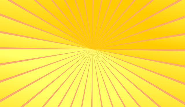 Vector Gratis: Amarillo, Naranja, Los Rayos