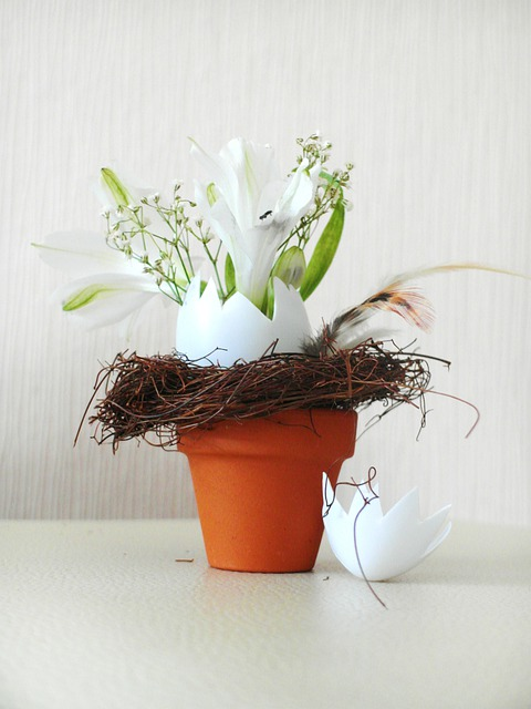 Kostenloses Foto Ostern Blumentopf Blumengesteck
