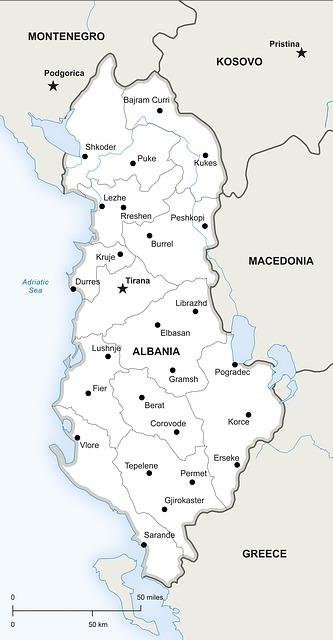 Political Map Albania Free Image On Pixabay