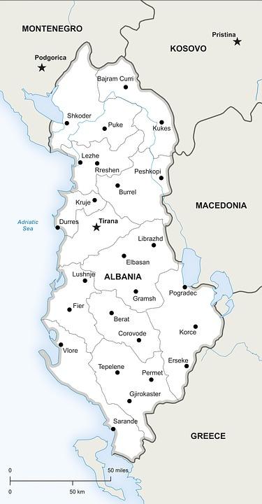 Politikai Terkep Albania Ingyenes Kep A Pixabay En