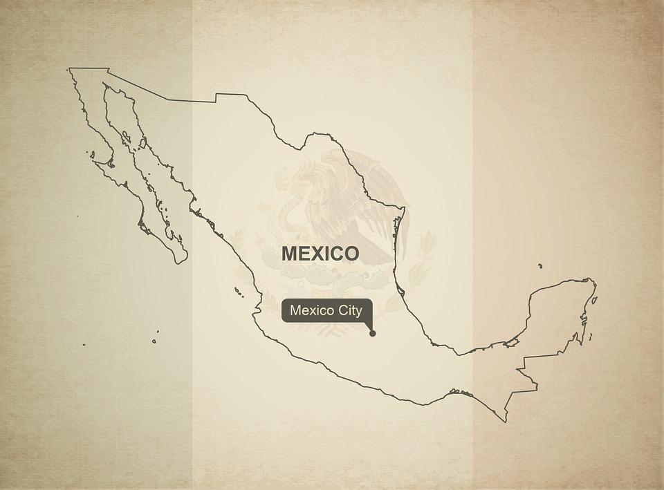 outline map mexico geography country maps
