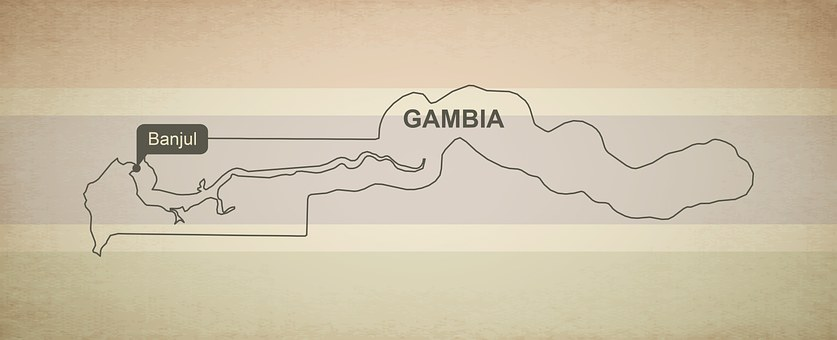 Outline Map Gambia Geography Country Maps