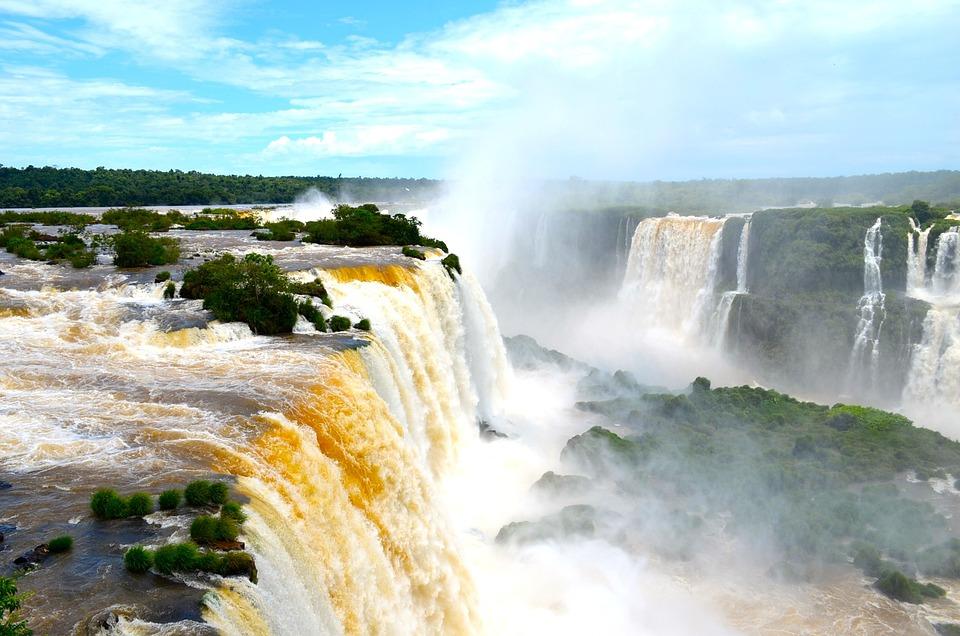 Iguazú, Cascada Cataratas, Salto De Agua, Brasil