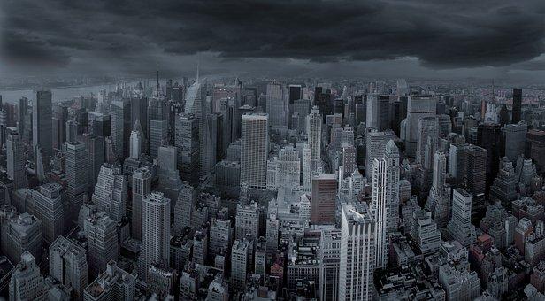 New York City, Skyline, City, Usa