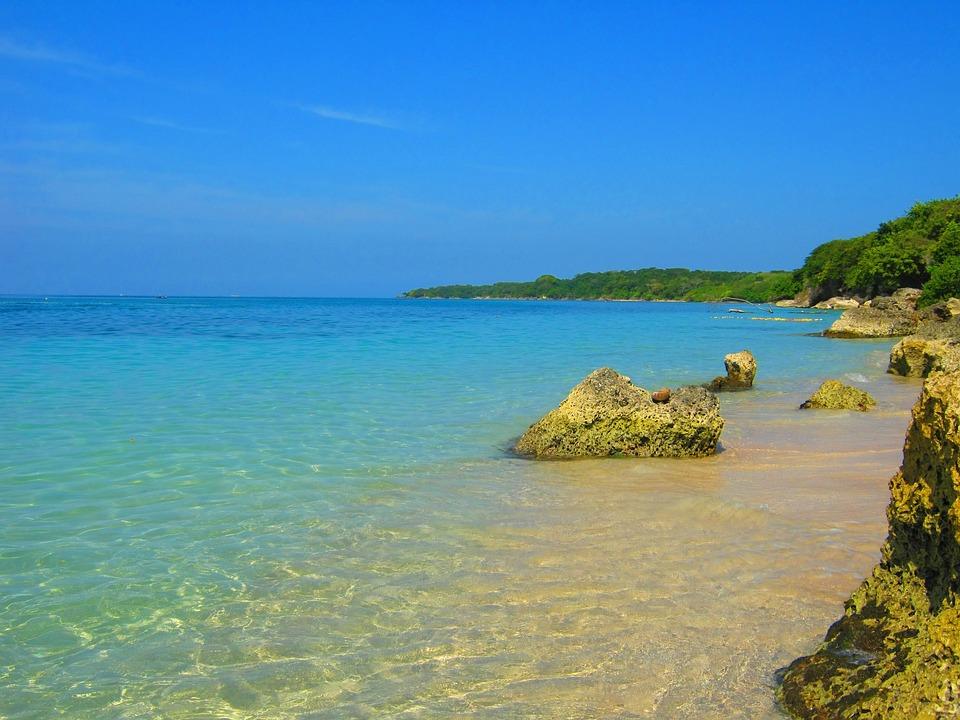 Playa Azul Arrecife · Foto Gratis En Pixabay