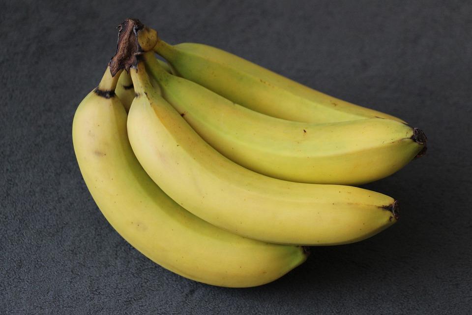 香蕉, 黄色, 绿色, 水果, 香蕉灌木, 健康, 甜, 吃, 关闭