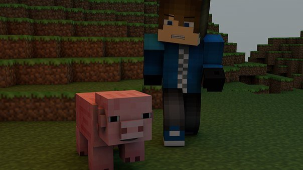 Minecraft, Video Game, Pig, Pixels