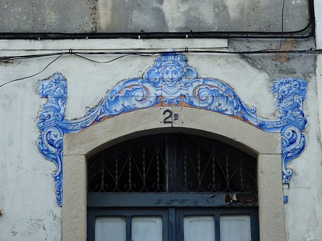 Tiles, Mosaic, Building, Entrance, Door