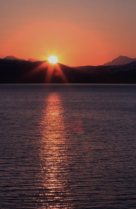 alaska ocean sunset  u00b7 free photo on pixabay