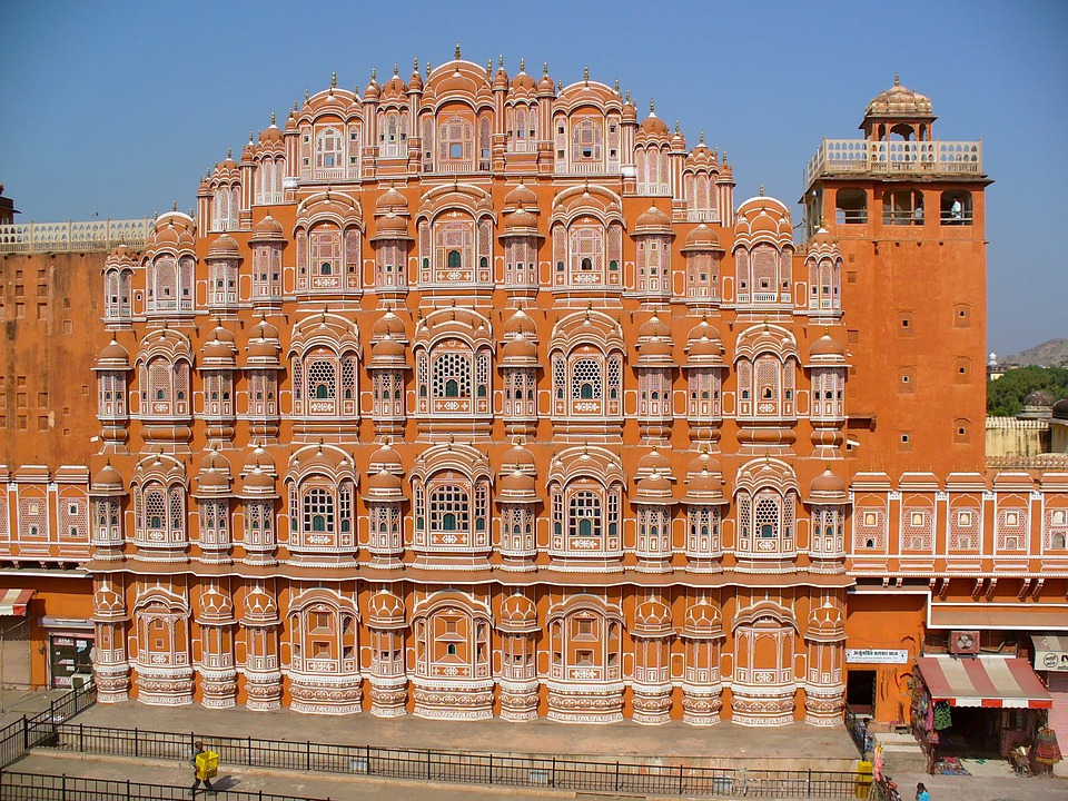 Palace Of Winds, India, Jaipur, Rajasthan, Facade