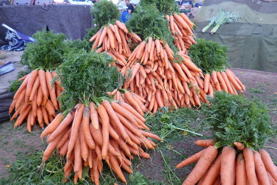 Bazaar, Market, Carrots, Vegetables, Carrot, Food