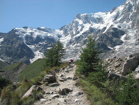 Monte Rosa, Italia, Montagna, Trekking
