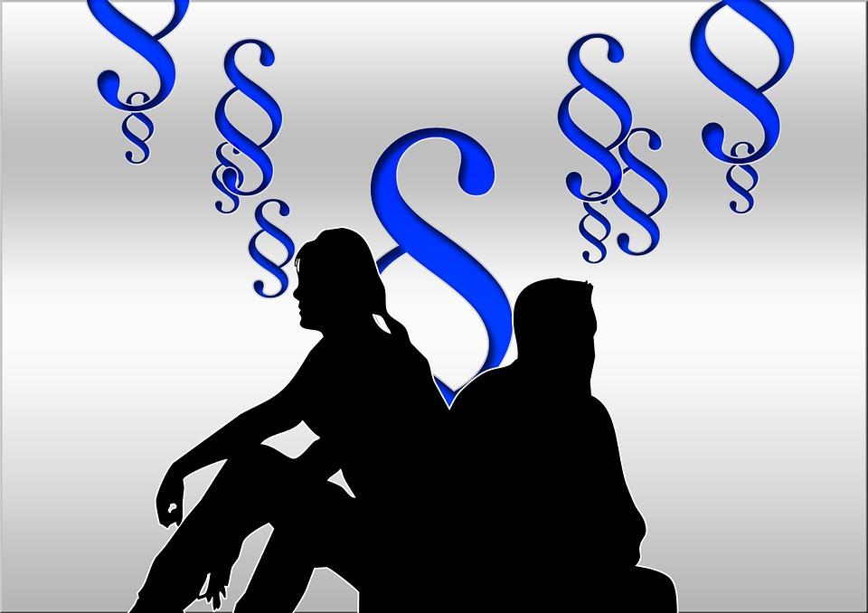 Familierecht, Echtscheiding Advocaat, Silhouetten