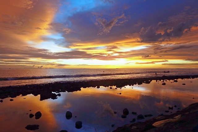 Free Photo Landscape Sunset Natural Clouds Free