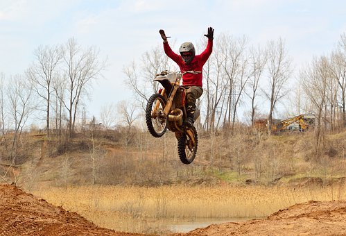 Dirt Bike Motorcycle Mud Action Dangerous