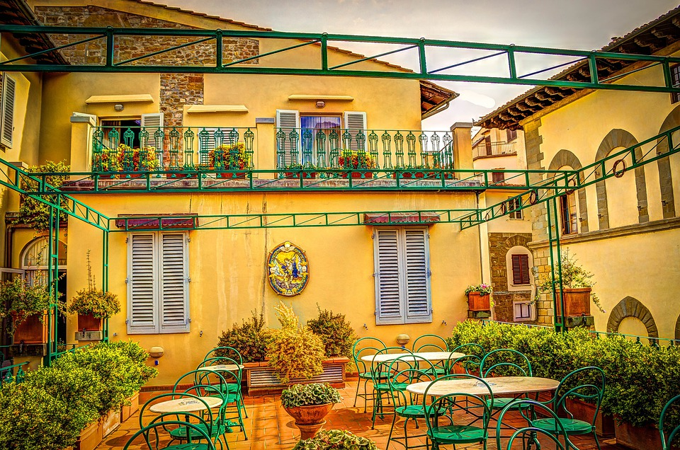 Restaurant Auf Dem Dach, Florenz, Dachterrasse, Italien