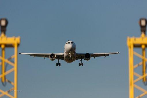 Plano, Avión, Aterrizaje