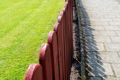 Fencing Paling Limit Wood Red Brown Proper