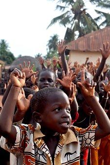Children, Togo, Group, People, Black