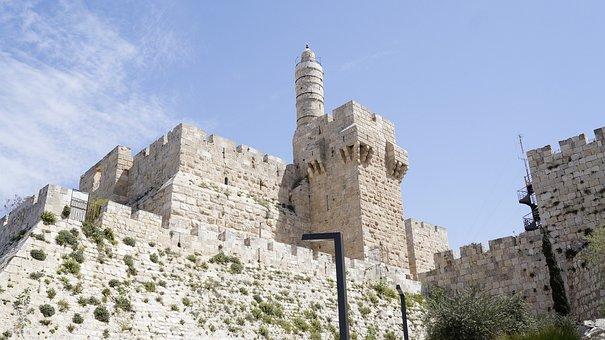 Jerusalem, Israel, Fortress, Davi