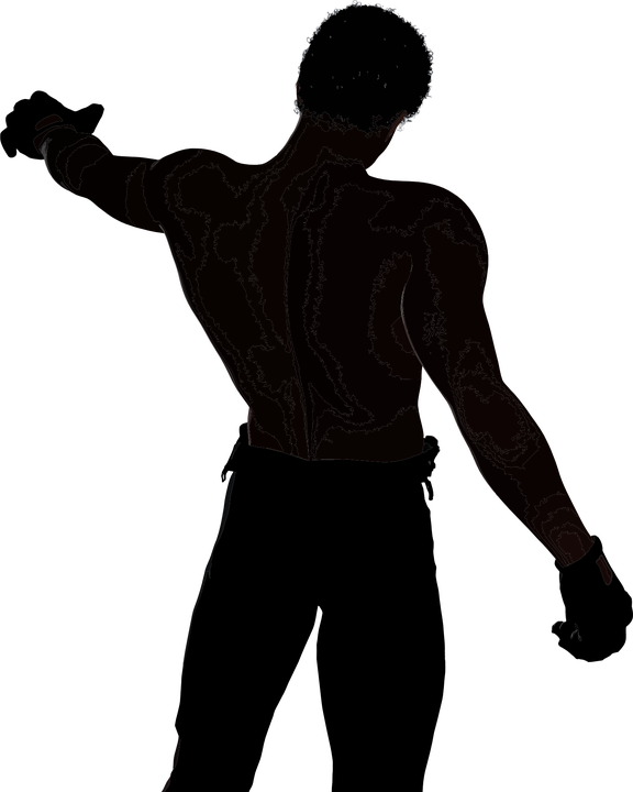 Silhouette Man Fitness Muscular