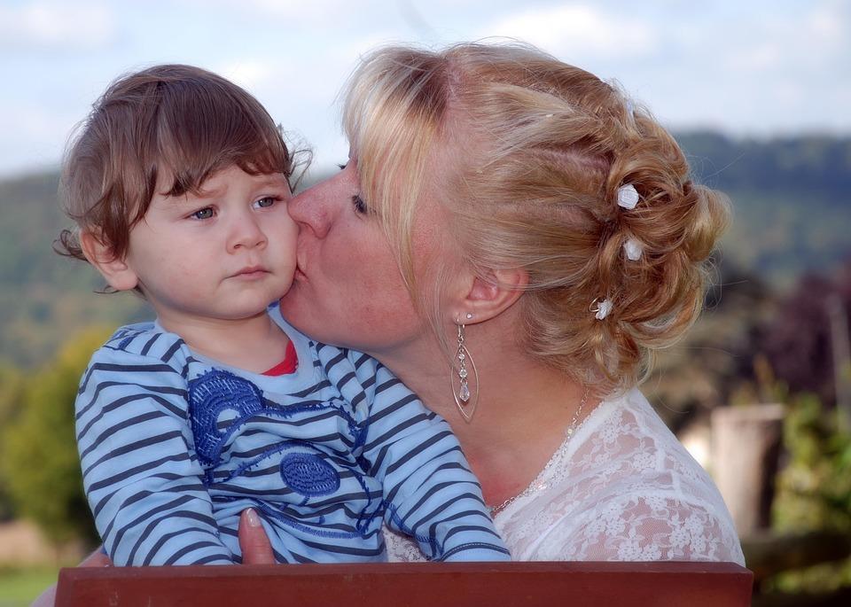 Kuss, Mutter Und Kind, Zuneigung, Liebe, Eltern