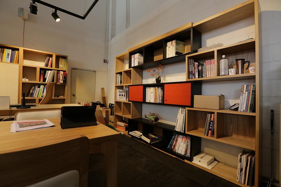 무료 사진: 사무실, 선반, 책상, 인테리어 디자인, 거실, 가구 ...