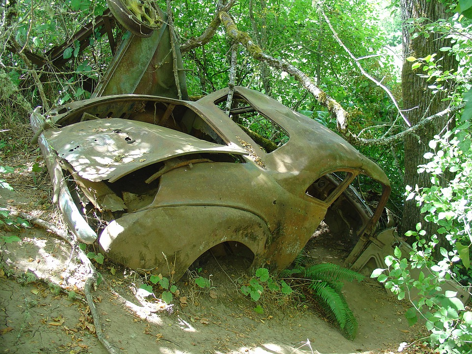 Public Domain Images Old Car Wreck