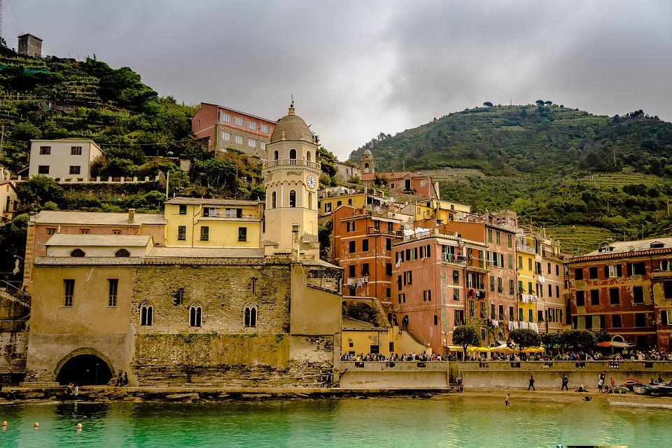 Cinque Terre, Italia, Beach, Costa D'Amalfi, Edifici