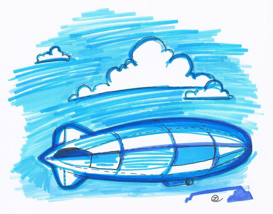 Zeppelin Kapal Udara Sketsa Gambar Gratis Di Pixabay