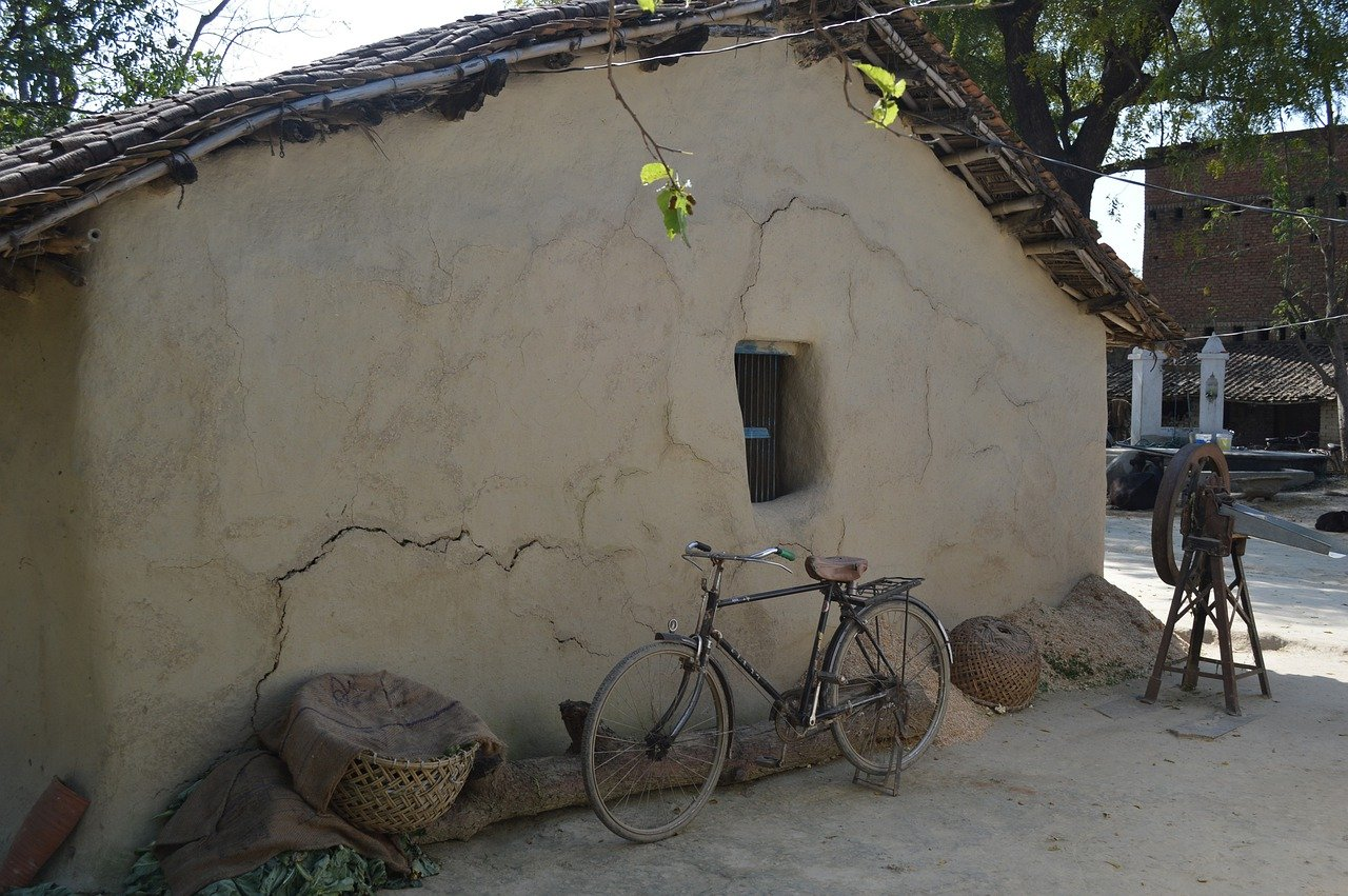 Mud houses of past
