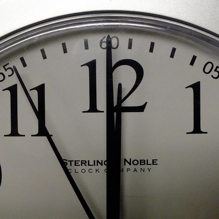 Last minute clock countdown