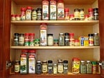cabinet, spices, orderly