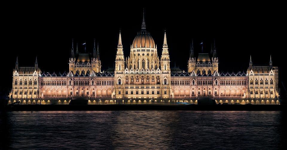 Hungarian Parliament, Night, Budapest, Hungary