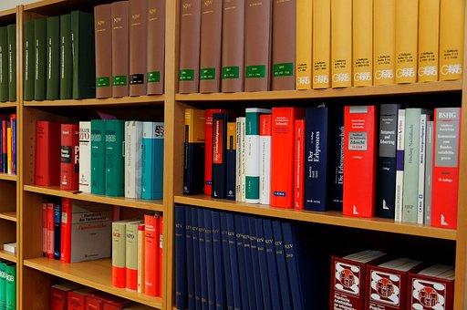 本棚, 法律事務所, 弁護士, 法律の本, 規制, 段落, 右, ジュラ