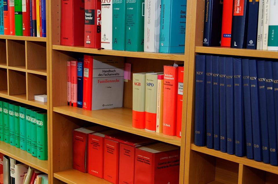 本棚, 法律事務所, 弁護士, 法律の本, 規制, 段落, 右, ジュラ, 句の森