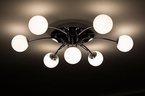 Ceiling Lamp, Lamp, Chandelier, Bulbs