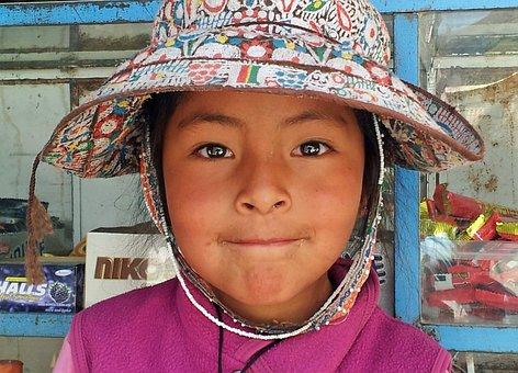 Perú, Chivay, Peruano, Niño, Sombrero