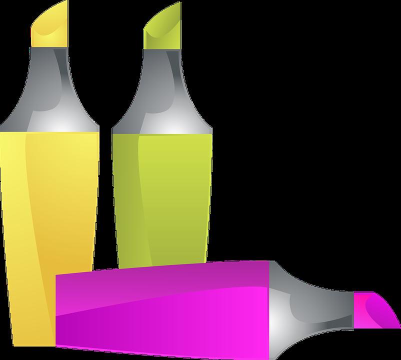 highlighter marker felt tip pen  u00b7 free vector graphic on Office Equipment Art Supplies