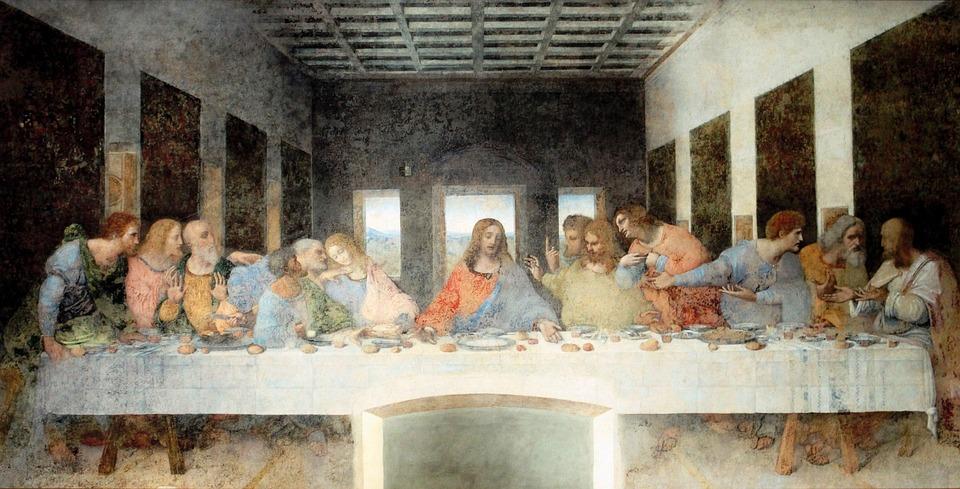 Painting, Last Supper, Artwork, Mural