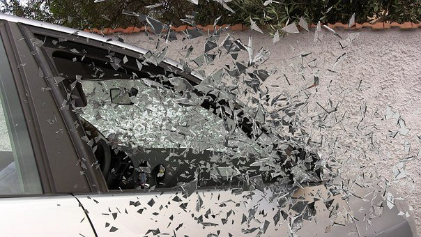 Car Accident, Broken Glass, Splatter