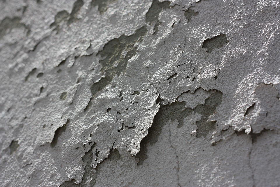 Paint Flaking Wall Grunge Weathered Grey Old