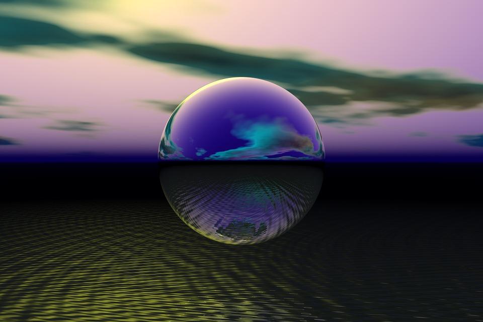 シャボン玉, 球, バブル, 空, ボール, 安物の宝石, サイエンス フィクション, ラウンド, 反射