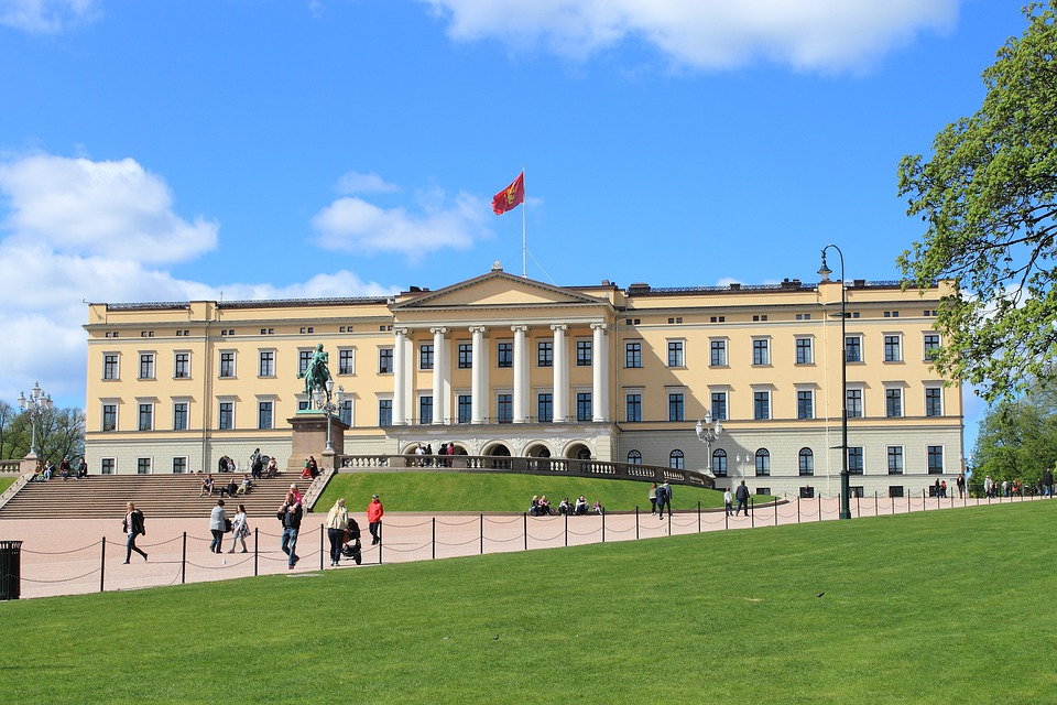 Oslo, Norwegia, Dom Króla, Park Zamkowy