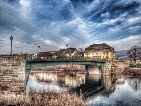 Witzenhausen Brücke Fluss Häuser Städtisch
